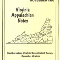 Virginia Appalachian Notes, Volume 20, Number 4