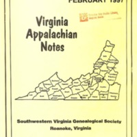 Virginia Appalachian Notes, Volume 21, Number 1