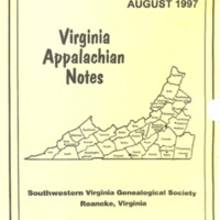 Virginia Appalachian Notes, Volume 21, Number 3