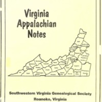 Virginia Appalachian Notes, Volume 22, Number 1