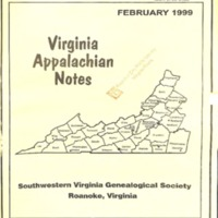 Virginia Appalachian Notes, Volume 23, Number 1