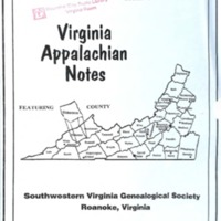 Virginia Appalachian Notes, Volume 24, Number 2