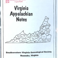 Virginia Appalachian Notes, Volume 25, Number 3