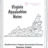 Virginia Appalachian Notes, Volume 25, Number 4