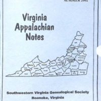 Virginia Appalachian Notes, Volume 26, Number 3