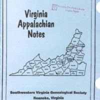 Virginia Appalachian Notes, Volume 27, Number 1