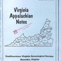 Virginia Appalachian Notes, Volume 27, Number 3