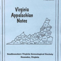 Virginia Appalachian Notes, Volume 27, Number 4