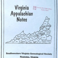 Virginia Appalachian Notes, Volume 28, Number 3