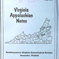 Virginia Appalachian Notes, Volume 28, Number 4
