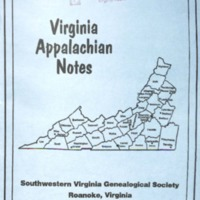 Virginia Appalachian Notes, Volume 29, Number 1