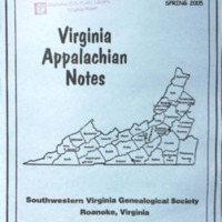 Virginia Appalachian Notes, Volume 29, Number 2