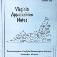Virginia Appalachian Notes, Volume 29, Number 3
