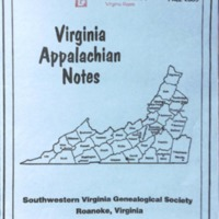 Virginia Appalachian Notes, Volume 29, Number 4