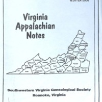 Virginia Appalachian Notes, Volume 30, Number 1
