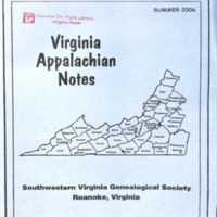 Virginia Appalachian Notes, Volume 30, Number 3