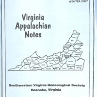 Virginia Appalachian Notes, Volume 31, Number 1