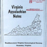 Virginia Appalachian Notes, Volume 33, Number 3