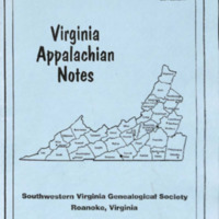 Virginia Appalachian Notes, Volume 33, Number 4 Supplement