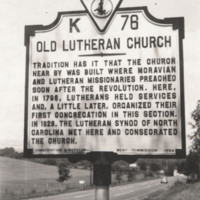 Davis2 28.01a Old Lutheran Church Sign